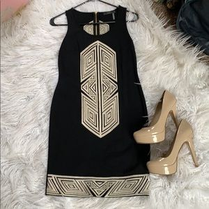 Black & Cream THML Dress - Sz Small NWOT